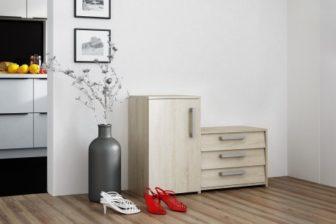 SUZI - szafka na buty z siedziskiem sonoma 17