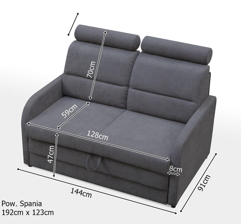 VIGRO - sofa amerykanka z funkcją spania 9
