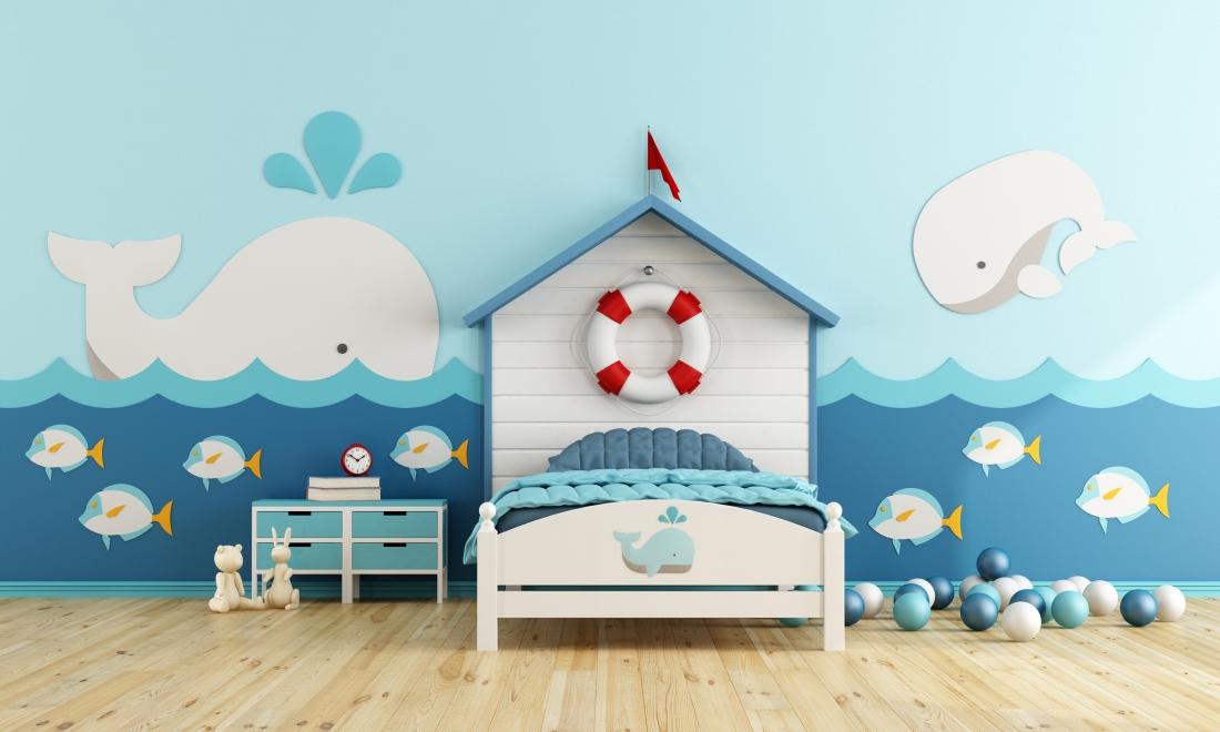 styl marynistyczny w pokoju dziecięcym