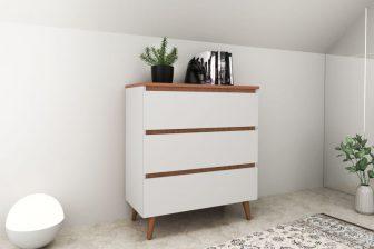 SVEN 80 - komoda w stylu skandynawskim biała 5