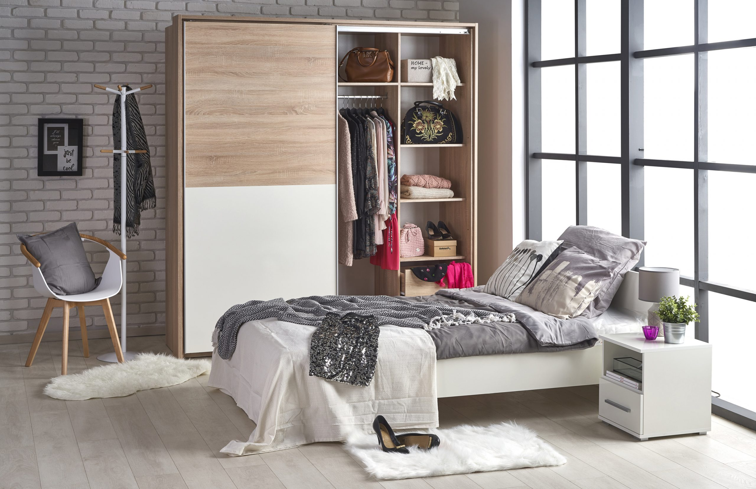LIMA - szafka nocna z szufladą - 3 KOLORY 5