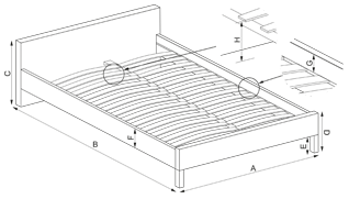 LIMA 90 - łóżko dąb sonoma 2