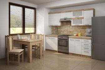 MARGARETA 1 - meble kuchenne do małej kuchni 2,4m 20