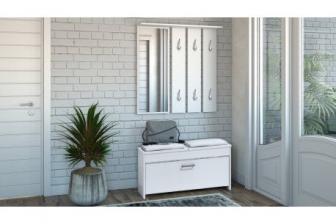 NEAPOL - biała garderoba do przedpokoju 24