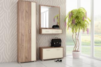 PORTA - garderoba do przedpokoju z szafą i lustrem 40