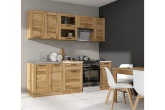 MAKIRA - meble kuchenne drewniane 2,4m 18