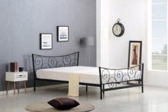RAMONA 120 - łóżko metalowe czarne 3