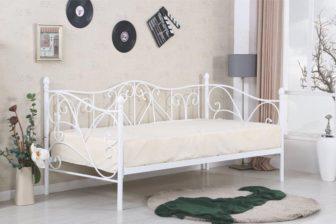 SUMATRA 90 - łóżko metalowe białe lub czarne 158