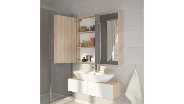 DELL 80 - szafka łazienkowa z lustrem 1