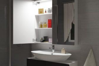 DELL 100 - szafka łazienkowa z lustrem 7