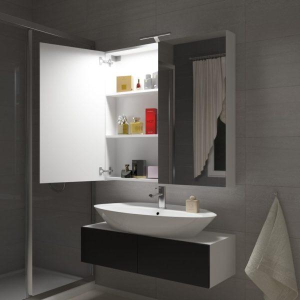 DELL 100 - szafka łazienkowa z lustrem 1
