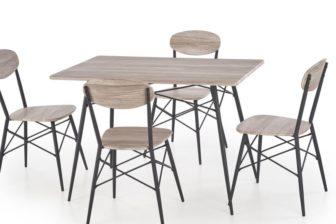 KABIR 2 - ZESTAW stół z krzesłami 10