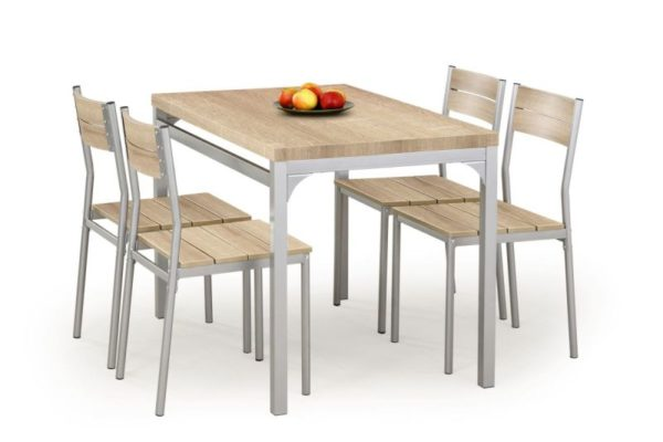 MALCOLM - ZESTAW stół z krzesłami różne kolory 1