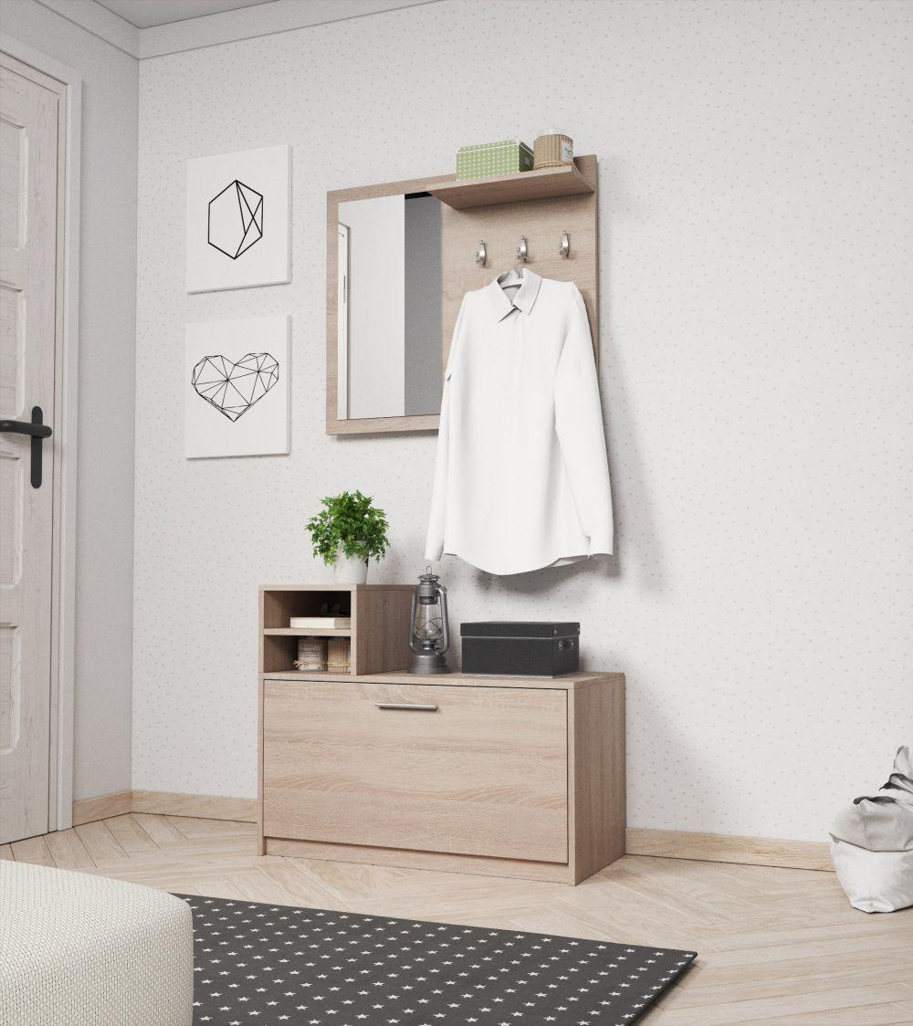 LONA - garderoba z siedziskiem różne kolory 3