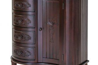 Półokrągła rzeźbiona stylowa komoda ALTER PLUS 2 kolor mahoń 5