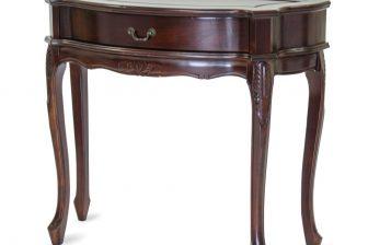 Rzeźbiona stylowa drewniana konsolka ALTER PLUS mahoń 6