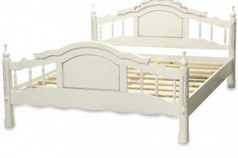 Stylowe rzeźbione łóżko ALTER white 171x213 8