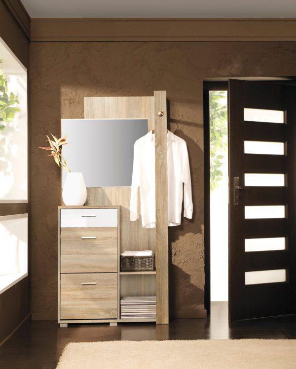 CALIPPO - garderoba z lustrem do przedpokoju 1