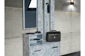 DIANA - garderoba z lustrem do przedpokoju beton 7