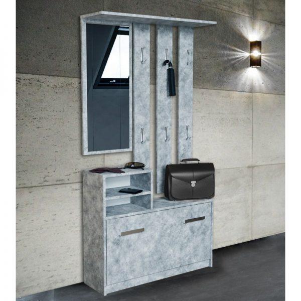 DIANA - garderoba z lustrem do przedpokoju beton 1