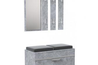 OLA - garderoba z siedziskiem beton 6