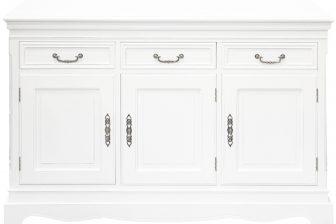 Biała stylowa rzeźbiona komoda HOLZ 3 5