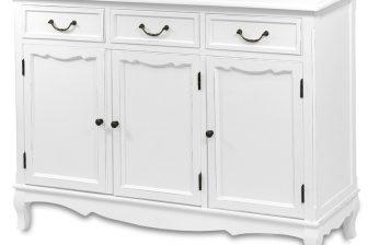 Biała stylowa komoda HOLZ 5 3