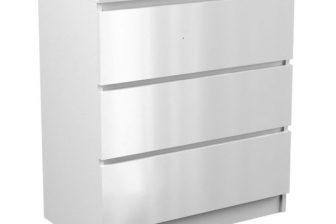 MALVINE 3M - komoda biała połysk 13
