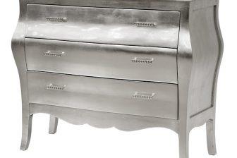 Komoda srebrna z kryształkami Silver 4 2