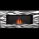 Biokominek DELTA 2 czarny Zebra 2