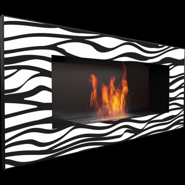 Biokominek DELTA 2 czarny Zebra 1