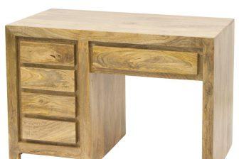 Biurko gabinetowe w stylu indyjskim DELI 4 z drewna mango 16