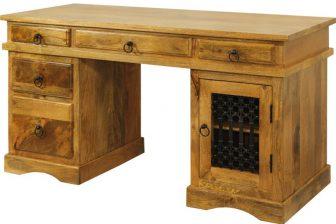 Biurko gabinetowe w stylu indyjskim DELI 5 z drewna mango 17