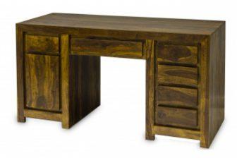 Biurko gabinetowe w stylu indyjskim DELI 3 z drewna akacjowego 14