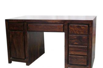 Biurko gabinetowe w stylu indyjskim GANDI 2 z drewna palisander 18