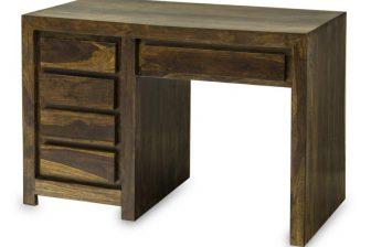 Biurko gabinetowe w stylu indyjskim GANDI 3 z drewna palisander 19