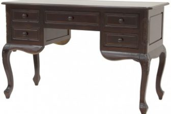 Klasyczne rzeźbione biurko gabinetowe ALTER PLUS kolor mahoń 7