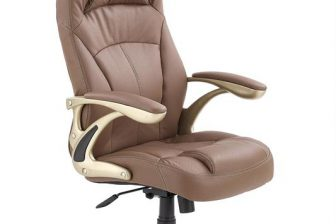 CARLOS - fotel gabinetowy jasny brąz 10
