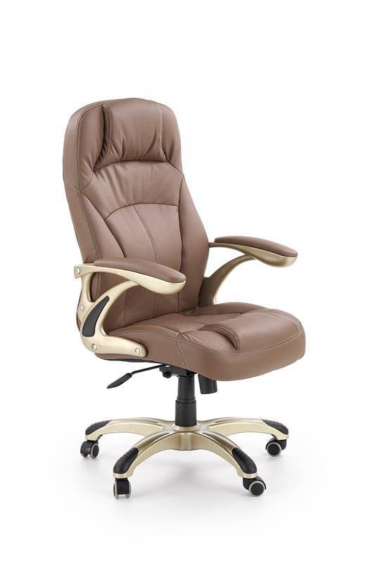CARLOS - fotel gabinetowy jasny brąz 13