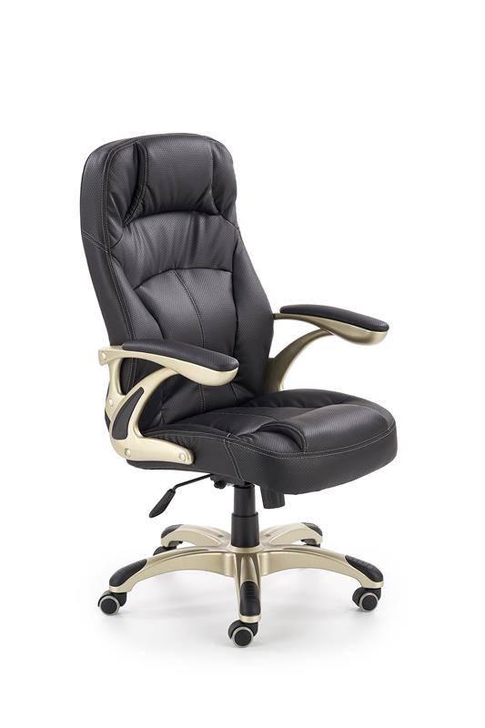 CARLOS - fotel gabinetowy czarny 11