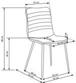 Krzesło K251 popiel 4