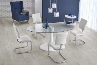 CORAL - stół okrągły szklany 7