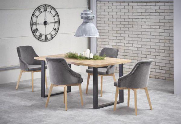 VENOM - stół industrialny rozkładany 135/185 1