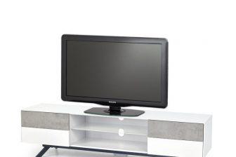 STONNO 180 – szafka RTV stolik RTV biały + beton 13