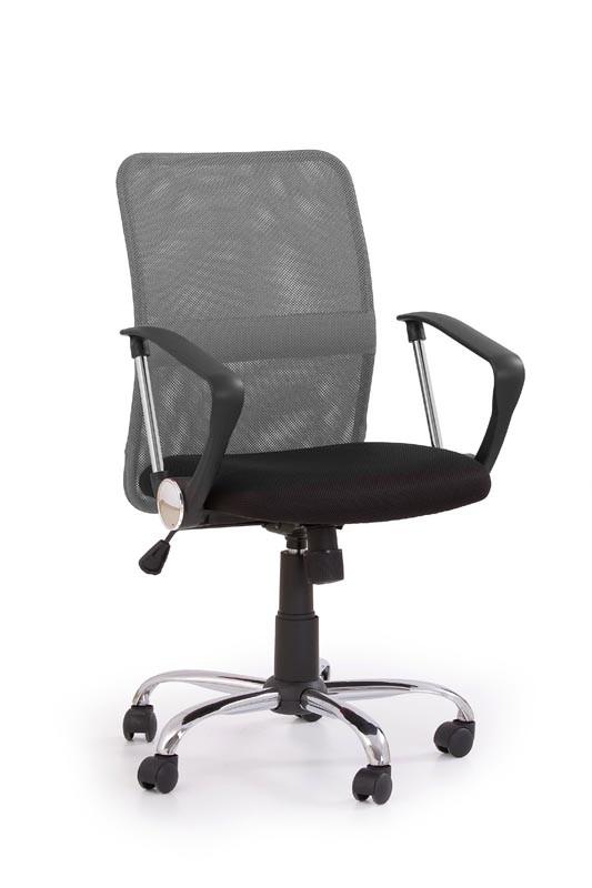 TONY - fotel obrotowy czarny/popiel 1