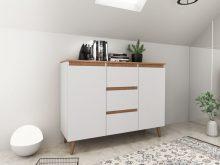 SVEN 120 - komoda w stylu skandynawskim biała 2