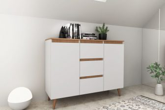 SVEN 120 - komoda w stylu skandynawskim biała 4