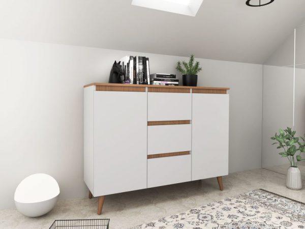 SVEN 120 - komoda w stylu skandynawskim biała 1