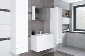 KATRINA - meble łazienkowe wiszące z szafką lustrzaną 18
