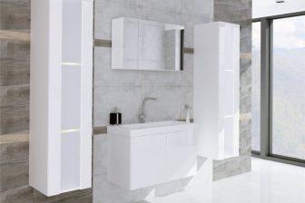 CERTO - meble łazienkowe białe połysk efekt lustrzany 1